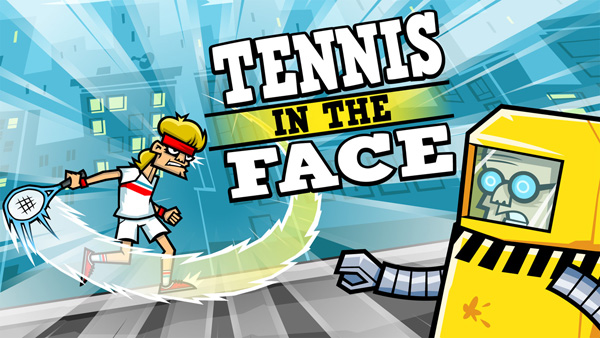 Tennis in the Face - serve tennis street justice!